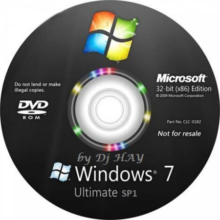 Windows 7 SP1 Ultimate x86 Edition by Dj HAY (2011/RUS)