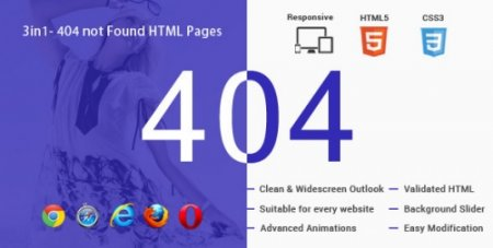 ThemeForest - 3in1- 404 Not Found HTML Responsive Animated Pages