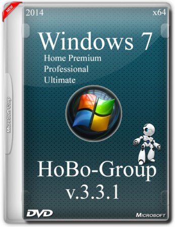 Windows 7 SP1 3in1 by HoBo-Group v.3.3.1 (x64/RUS/2014)