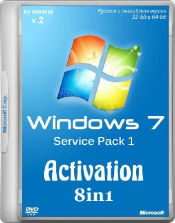 Windows 7 SP1 IE11 -8in1- Activated v.2 by m0nkrus (x86/x64/RUS/ENG/2014)